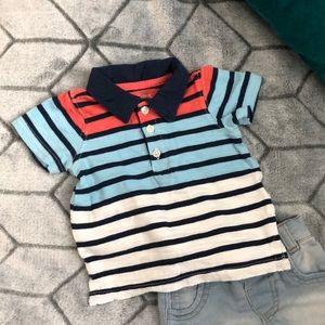 Carters 3m short sleeve shirt
